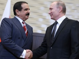 "Bahrain and Russia favor ""people's right to decide their own fate"""