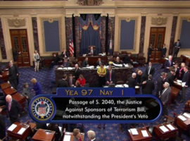 ADHRB Welcomes Congressional Override of JASTA Veto