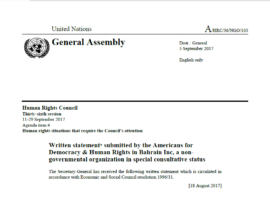 ADHRB submits written statement on GCC countries to the Human Rights Council