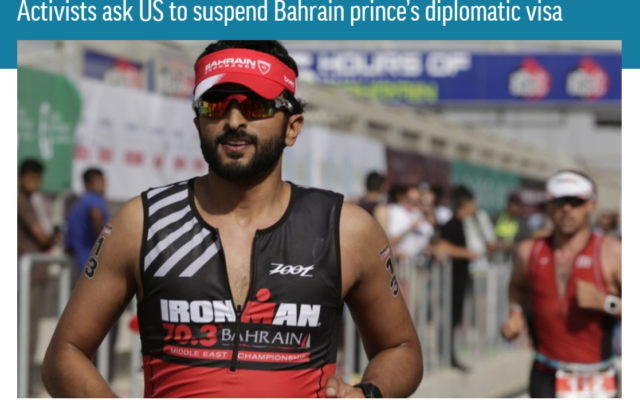 ADHRB calls for US to suspend Bahraini prince's diplomatic visa