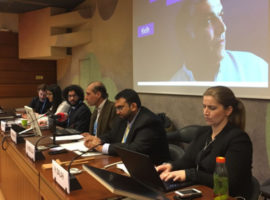 فعالية عن القضاء البحريني في HRC37 بمشاركة مركز الخليج وADHRB و CIVICUS برعاية عدد كبير من المنظمات والفعاليات الحقوقية