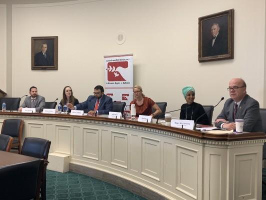 منظمة ADHRB تثير مجدّداً قضايا انتهاكات مسؤولي وزارة الداخلية في البحرين خلال فعالية في الكونغرس الأمريكي