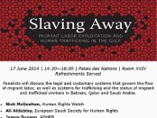 Upcoming Event: Slaving Away: Migrant Exploitation and Human Trafficking in the Gulf