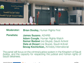 Upcoming Event: Criminal Justice and Human Rights in Saudi Arabia