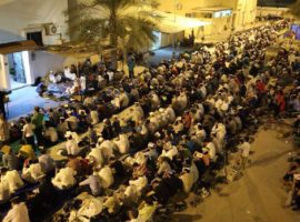 In response to government repression Bahrainis hold mass sit-in in Diraz