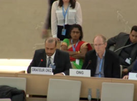 HRC 34 Oral Interventions: ID w/ SR on Environment
