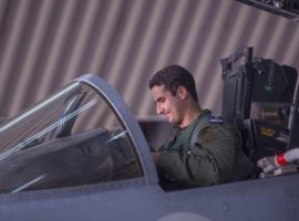 """In a handout picture released by the official Saudi Press Agency (SPA),  Saudi Arabian air force pilot Prince Khaled bin Salman sits in the cockpit of a fighter jet at an undisclosed location on September 23, 2014, after taking part in a mission to strike Islamic State (IS) group targets in Syria. Saudi Arabia confirmed it took part along with Arab allies in US-led air strikes against jihadists from the Islamic State group in Syria on September 23. AFP PHOTO/ HO/ SPA  == RESTRICTED TO EDITORIAL USE - MANDATORY CREDIT """"AFP PHOTO/HO/SPA"""" - NO MARKETING NO ADVERTISING CAMPAIGNS - DISTRIBUTED AS A SERVICE TO CLIENTS =="""