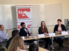 "ADHRB Hosts ""Assessing Human Rights Abuses in Bahrain and the Arab Gulf"" at American University"