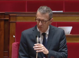 French MP Jean-Luc Lagleize questions the Minister for Europe And Foreign Affairs referring to the serious human rights violations in Bahrain
